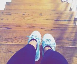 blue shoes, leggings, and photography image
