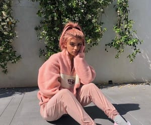 girl, pink hair, and pink image