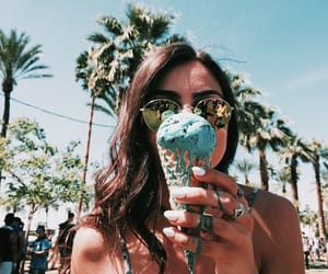 brunette, ice cream, and cute image