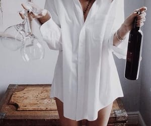 wine and girl image