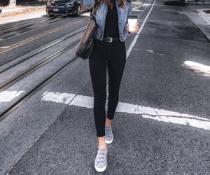 black, casual, and outfit image