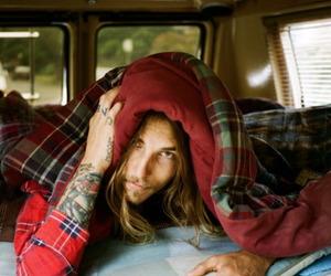 tattoo, boy, and long hair image