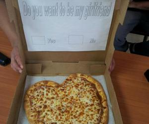 pizza, love, and girlfriend image