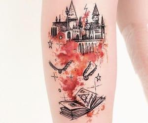 tattoo, harry potter, and hogwarts image