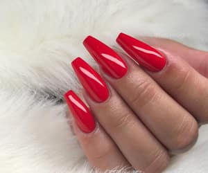 red nails, instagram ig, and inspiration style image