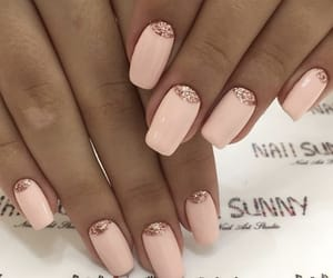 nails, pink nails, and square nails image