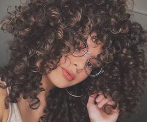 beauty, glasses, and curlyhair image