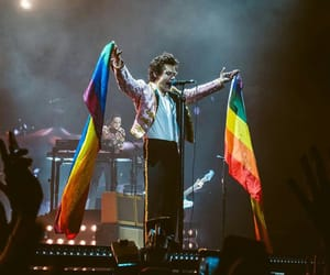 flag and Harry Styles image