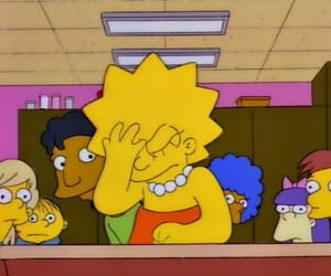 cartoon, the simpsons, and lisa image