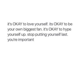 quotes, black and white, and love yourself image
