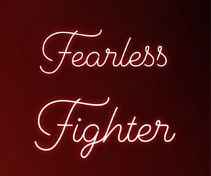 fearless, fighter, and rania image