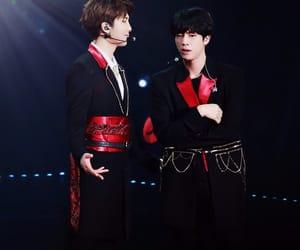 jin, taehyung, and v image