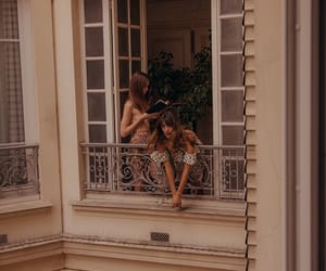 girl, balcony, and paris image