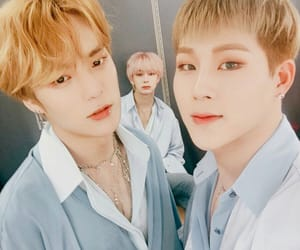 minhyuk, hyungwon, and lee minhyuk image