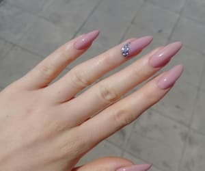 long nails, nail art, and Nude image