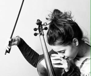 music, violin, and girl image
