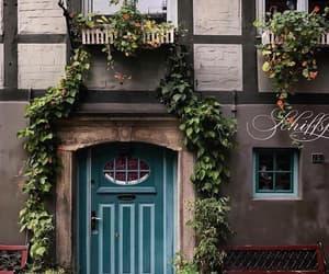 door, flowers, and goals image