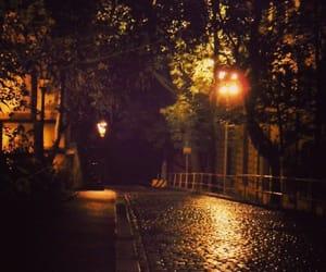 lights, night, and rain image