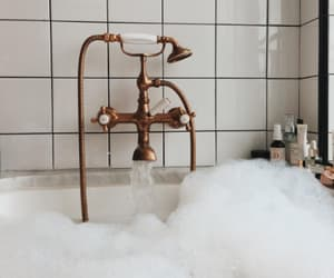 bath, interior, and bubbles image
