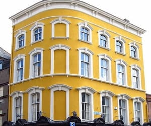 building, yellow, and aesthetic image