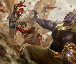 ironman, thanos, and spiderman image