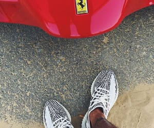 fashion, ferrari, and yeezy 350 image