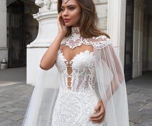 bride, wedding, and white image