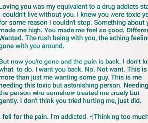 drugs, heart broken, and hurt image