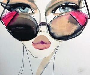 art, watercolors, and beauty image