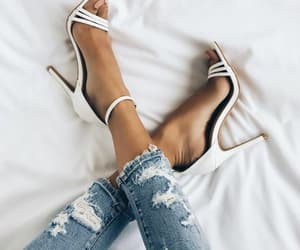 shoes, denim, and fashion image