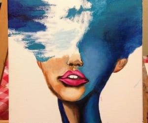art, eyes, and lips image