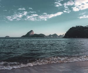 beach, blue, and brazil image