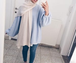 hijab, fashion, and smile image
