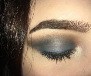 blue, eyeshadow, and highlighter image