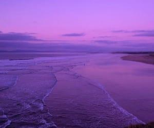 purple, beach, and sky image