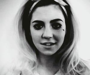 beautiful girl, dark, and girl image