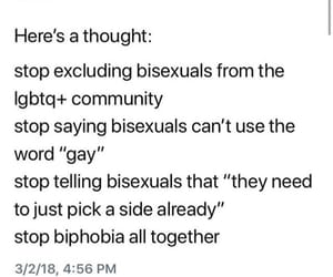 bisexual, twitter, and biphobia image