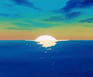 gif, anime, and sunset image