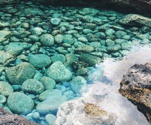 blue, clear, and stones image