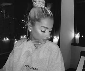 black and white, ariana grande, and no tears left to cry image