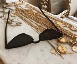 gold, fashion, and sunglasses image