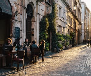 cafe, city, and travel image