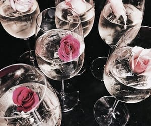 drink and rose image