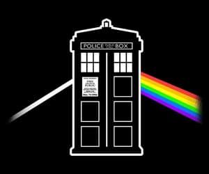 tardis, doctor who, and Pink Floyd image