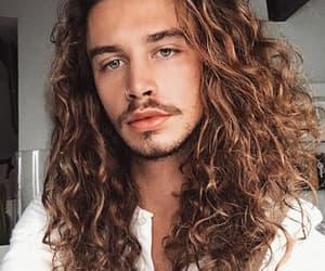 boys, curly hair, and long hair image
