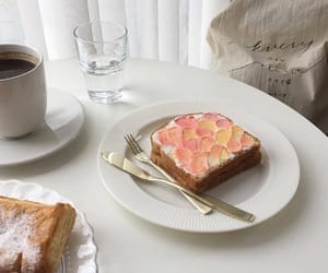 bread, dessert, and kawaii image