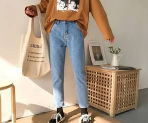 aesthetic, sweater, and denim image