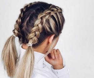 braids, hairstyle, and hair image