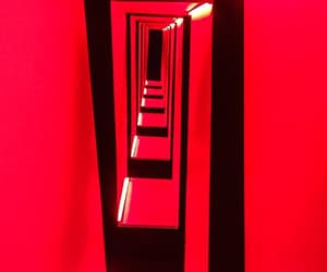 architecture, red, and staircase image