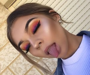 girl, beauty, and highlight image